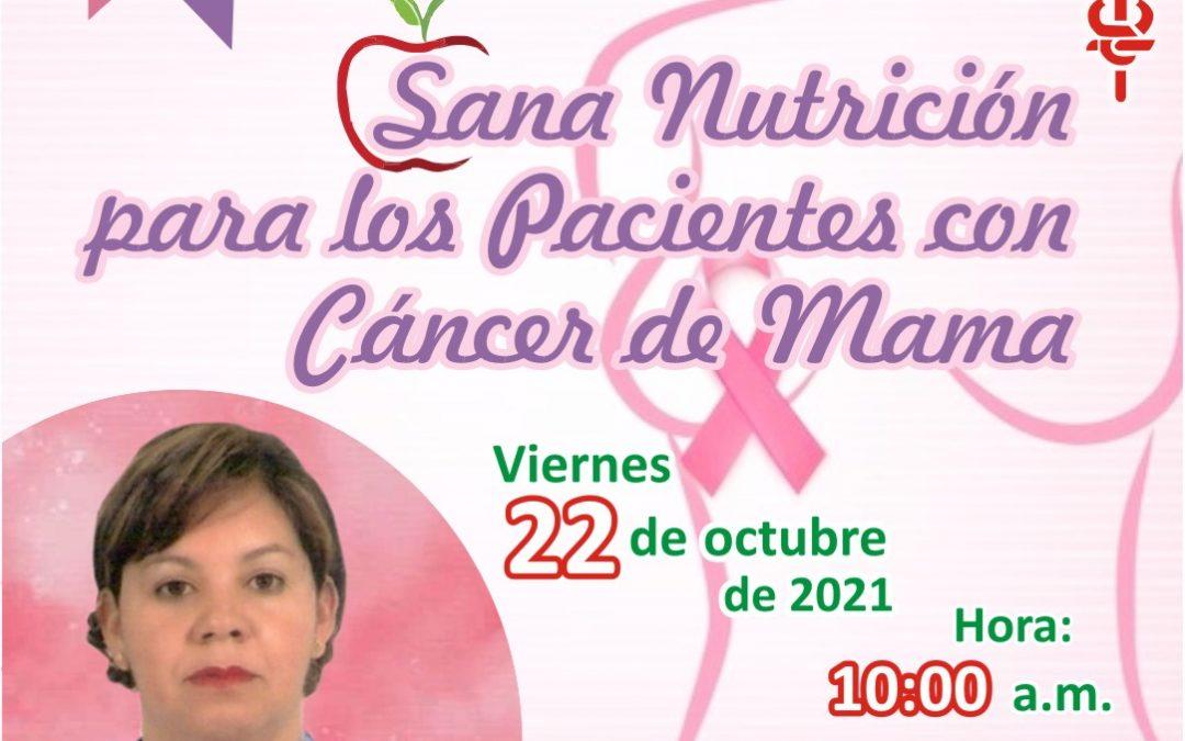 Forochat sobre nutrición para pacientes con cáncer de mama