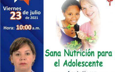 Foro Chat sobre sana nutrición para adolescentes